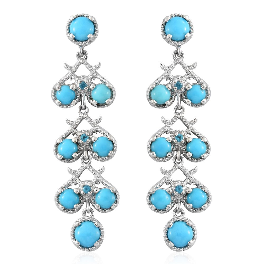 Arizona Sleeping Beauty Turquoise, Malgache Neon Apatite Platinum Over  Sterling Silver Earrings Tgw 396 Cts  Silverjewelry  Promotions   Onlinestore