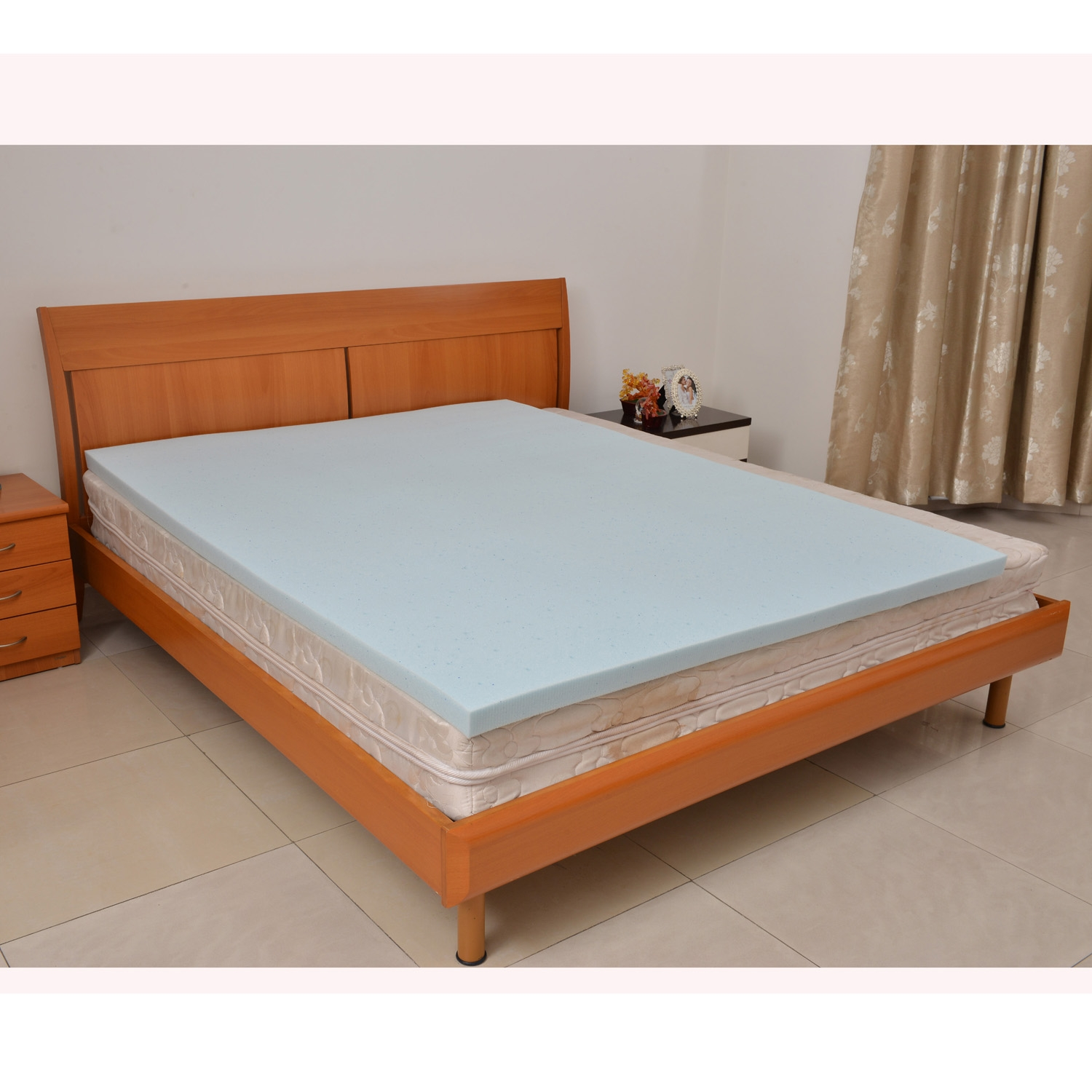 King size cooling gel infused memory foam mattress topper for Online shopping for mattress