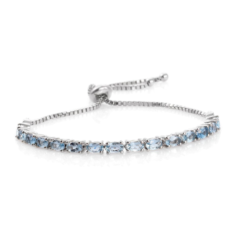 Santa maria aquamarine platinum over sterling silver magic for Santa maria jewelry company