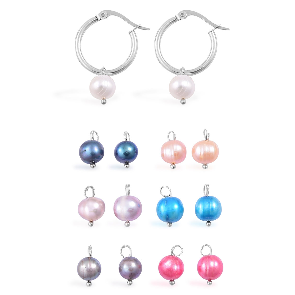 black shop freshwater day cultured pearls white of image night splendid mm pearl interchangeable earrings product
