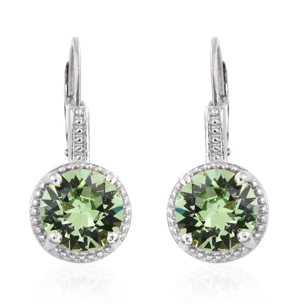 Karis collection platinum bond brass lever back earrings for Swarovski jewelry online store