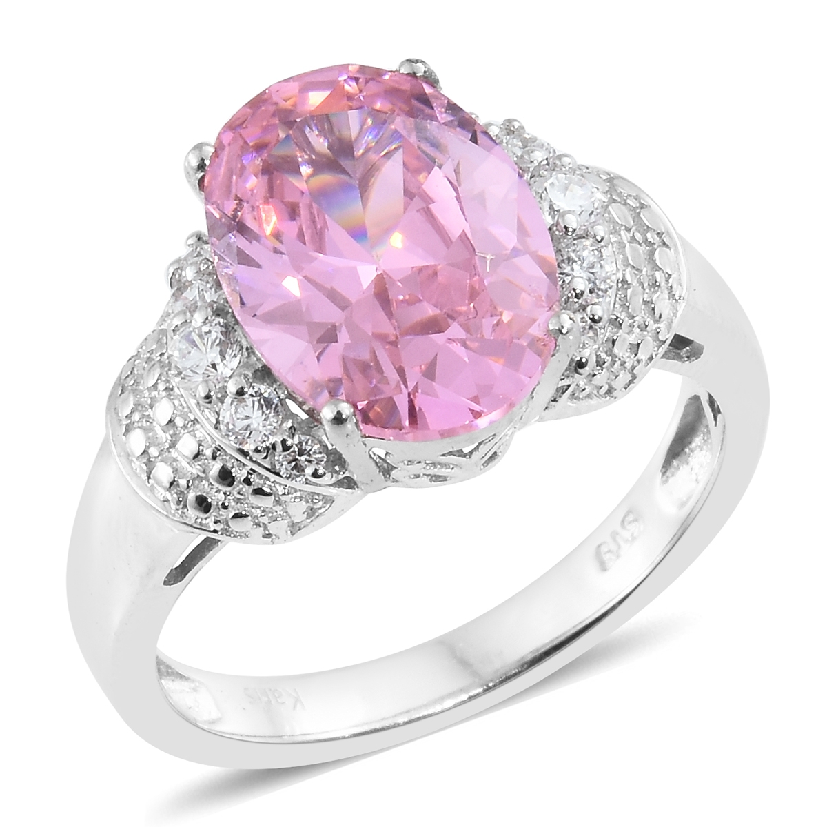 KARIS Collection - Simulated Pink Sapphire, Simulated Diamond ...