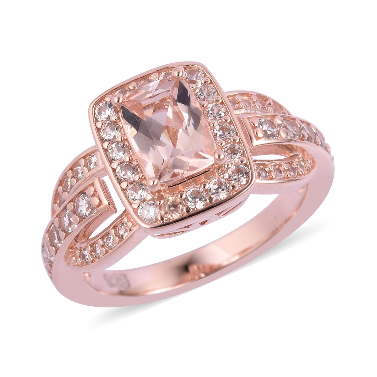 Doorbuster Marropino Morganite, Multi Gemstone Vermeil RG Over ...