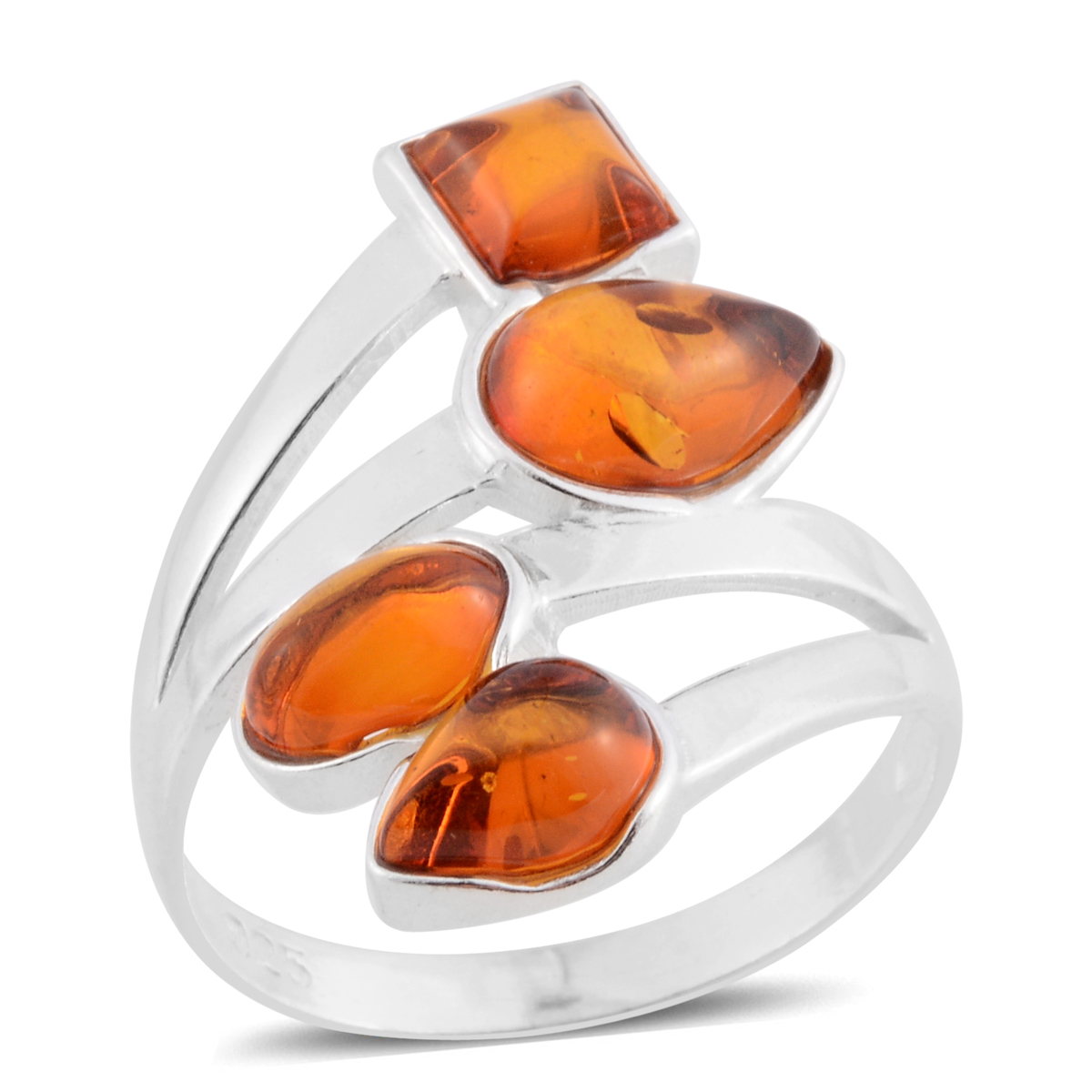 a5de88685 Baltic Amber Sterling Silver Bypass Ring (Size 7.0) | Rings | Jewelry |  online-store | Shop LC