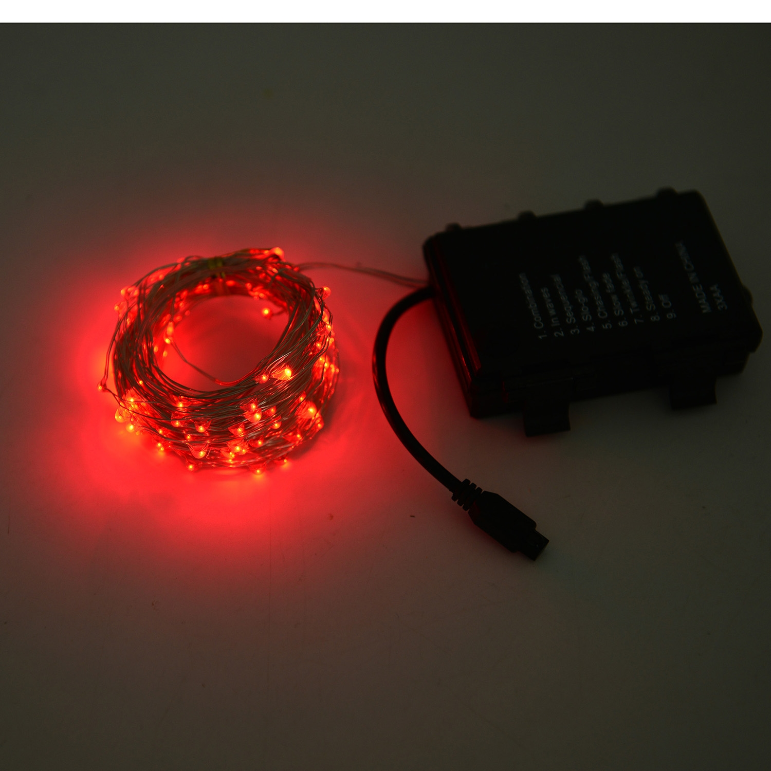 Db Red Micro Led String Lights With Wireless Remote 3xaa Batteries Required Lighting Decor Home Online Lc