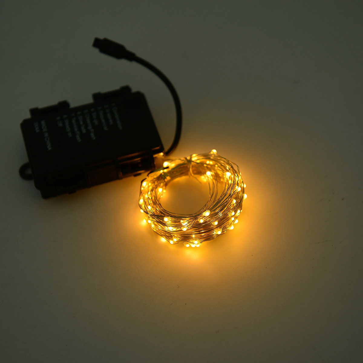 Yellow Micro Led String Lights With Wireless Remote 3xaa Batteries Required Lighting Decor Home Online Lc