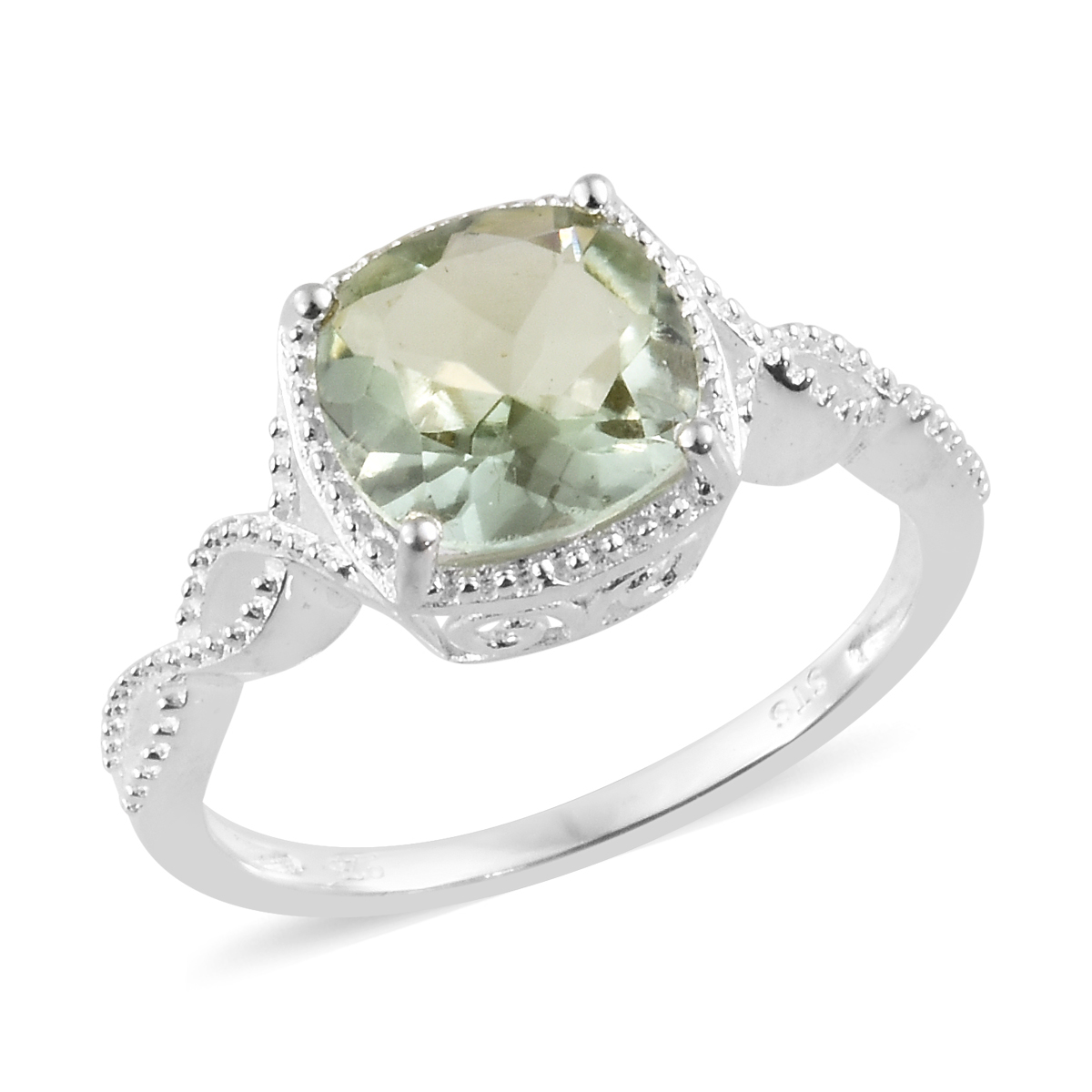 213b140cd Green Amethyst Sterling Silver Ring (Size 6.0) TGW 2.70 cts. | Solitaire |  Rings | Jewelry | online-store | Shop LC