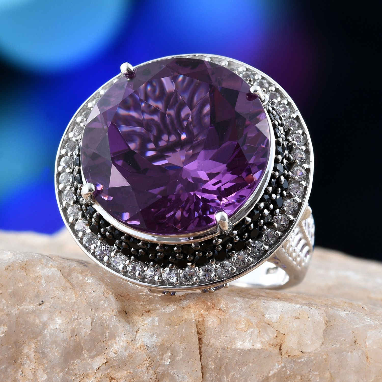 lavender alexite multi gemstone platinum sterling