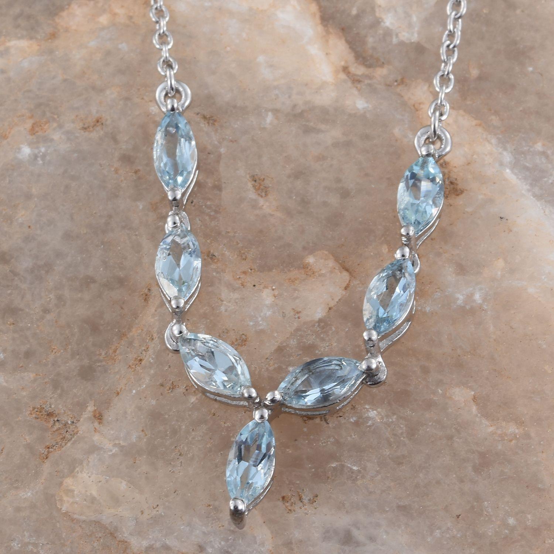 Santa maria aquamarine platinum over sterling silver for Santa maria jewelry company