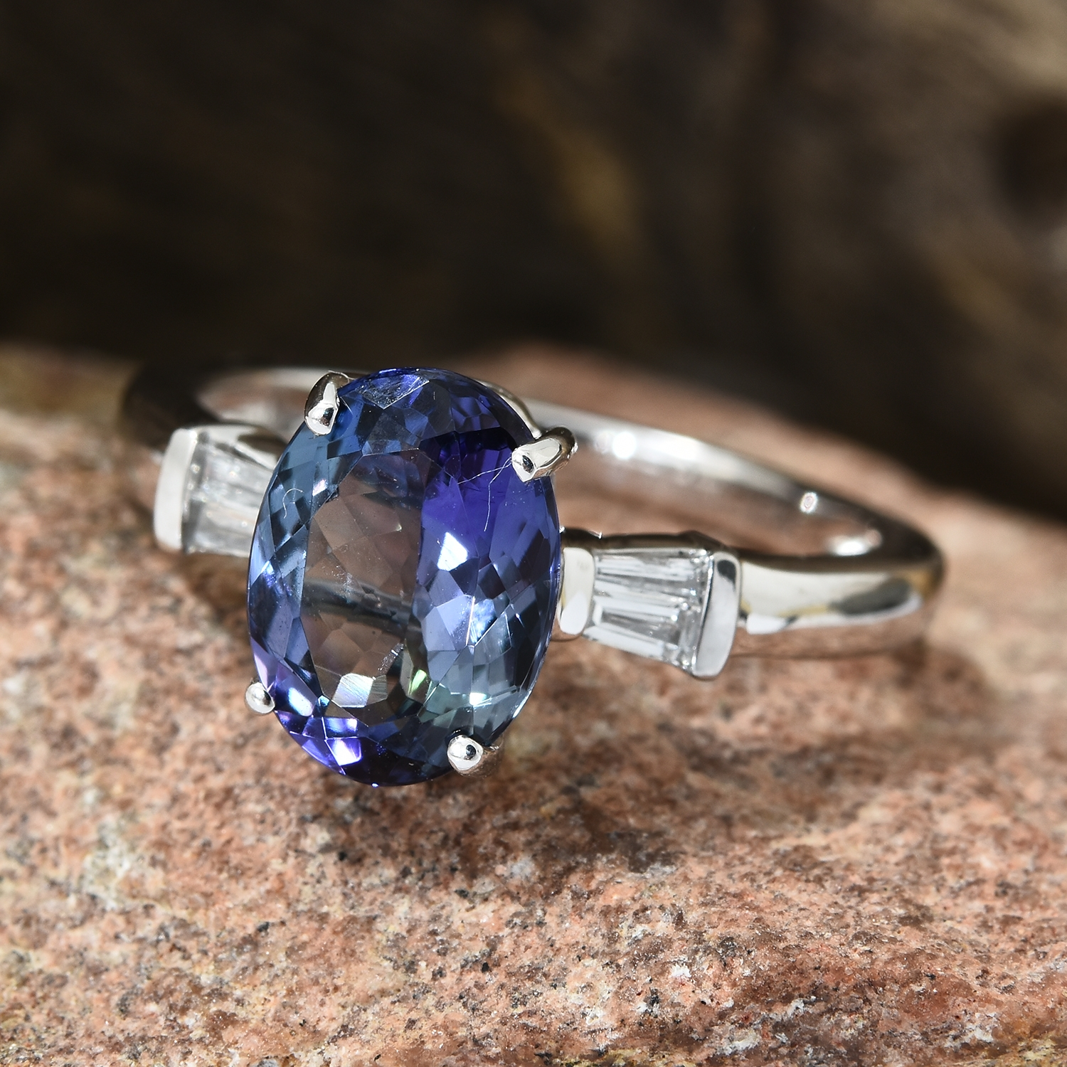 carat treasury et product blue peacock montana s deep tanzanite sapphire earth