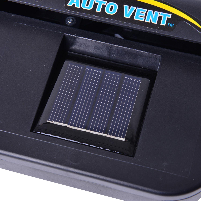 auto vent solar powered fan ventilateur solaire in automotive garage home online. Black Bedroom Furniture Sets. Home Design Ideas