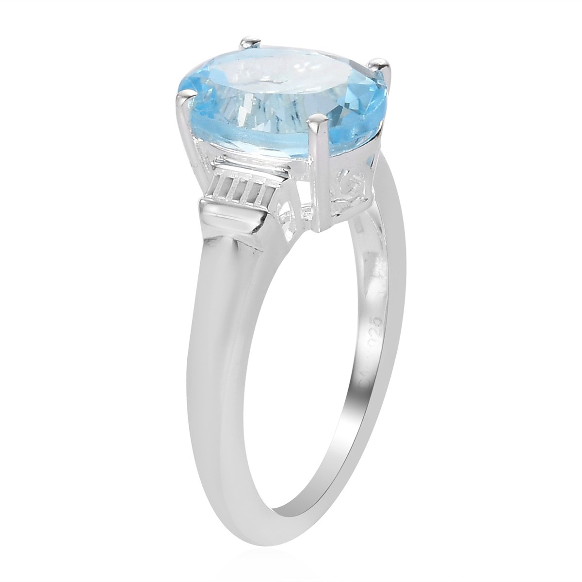 925-Sterling-Silver-Oval-Sky-Blue-Topaz-Solitaire-Promise-Ring-Jewelry thumbnail 4