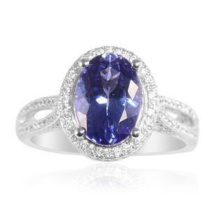 ILIANA 18K WG Premium AAA Tanzanite, Diamond Ring (Size 6.5) TDiaWt 0.74 cts, TGW 4.280 cts.