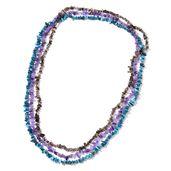 Amethyst, Madagascar Paraiba Apatite, Brazilian Smoky Quartz Set of 3 Endless Necklaces (34 in) TGW 353.11 cts.