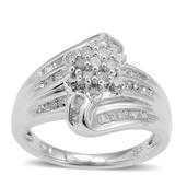 Diamond Sterling Silver Ring (Size 7.0) TDiaWt 0.50 cts, TGW 0.50 cts.