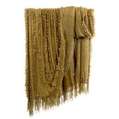 J Francis Hotel Collection - Taupe Ruffel Throw