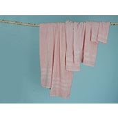 J Francis Hotel Collection - Dusty Pink Luxury Cotton Towels - 7 Piece Set