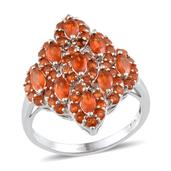 Jalisco Fire Opal Platinum Over Sterling Silver Ring (Size 9.0) TGW 2.000 cts.