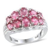 Mahenge Rose Spinel Platinum Over Sterling Silver Ring (Size 7.0) TGW 3.695 cts.