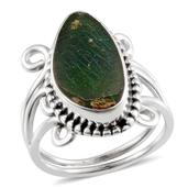 Artisan Crafted Canadian Ammolite Ring in Sterling Silver Nickel Free (Size 10) TGW 5.04 Cts.