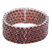 Mozambique Garnet Sterling Silver Bracelet (7.50 In) TGW 134.300 cts.