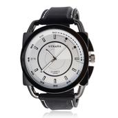 STRADA Japanese Movement Watch with Black Silicone Strap and Stainless Steel Back
