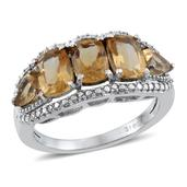Brazilian Citrine (Cush) Ring in Stainless Steel (Size 8) TGW 3.50 Cts.