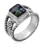 Bali Legacy Collection Northern Lights Mystic Topaz (Oct) Ring in Sterling Silver Nickel Free (Size 6) TGW 3.92 Cts.