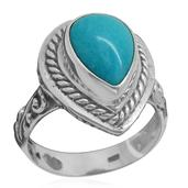 Bali Legacy Collection Arizona Sleeping Beauty Turquoise Sterling Silver Ring (Size 6.0) TGW 3.810 cts.