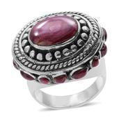 Santa Fe Style Spiny Oyster Shell Purple Sterling Silver Ring (Size 9.0)