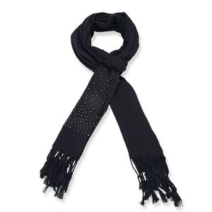 Black 100% Polyester Scarf (26x9 in)
