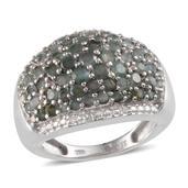 Narsipatnam Alexandrite, Diamond Platinum Over Sterling Silver Ring (Size 6) TDiaWt 0.02 cts, TGW 3.930 cts.