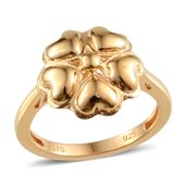 Yellow Gold Over Sterling Silver Ring (Size 7.0)