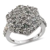 Narsipatnam Alexandrite Platinum Over Sterling Silver Ring (Size 7.0) TGW 3.91 cts.