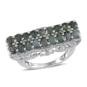 Narsipatnam Alexandrite Platinum Over Sterling Silver Ring (Size 9.0) TGW 3.750 cts.
