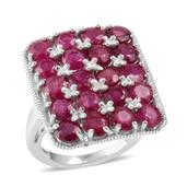 Niassa Ruby Sterling Silver Ring (Size 6.0) TGW 6.800 cts.