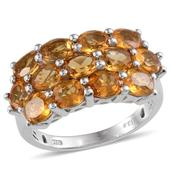 Brazilian Citrine Platinum Over Sterling Silver Ring (Size 8.0) TGW 3.90 cts.