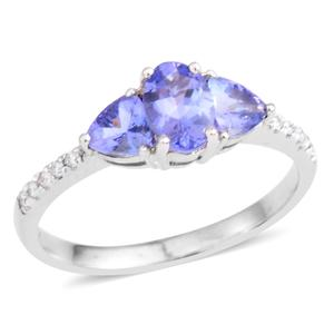 10K WG Tanzanite, Diamond Ring (Size 7.0) TDiaWt 0.06 cts, TGW 1.22 cts.