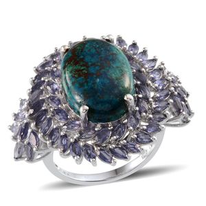 Table Mountain Shadowkite, Catalina Iolite Platinum Over Sterling Silver Ring (Size 6.0) TGW 17.600 cts.