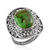 Artisan Crafted Mojave Green Turquoise (Ovl) Ring in Sterling Silver Nickel Free (Size 9) TGW 6.679 cts.
