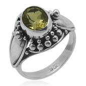 Bali Legacy Collection Brazilian Citrine Sterling Silver Ring (Size 7.0) TGW 1.110 cts.