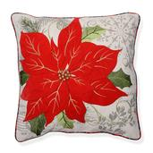 Christmas Poinsettia Reversible Pillow (18x18 in)