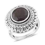 Royal Jaipur Natural Silver Sapphire, Ruby Sterling Silver Ring (Size 6.0) TGW 6.930 cts.