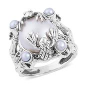Pearl Expressions Freshwater Pearl Sterling Silver Ring (Size 6.0)