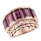 Stefy Orissa Rhodolite Garnet 14K RG Over Sterling Silver Ring (Size 5.0) TGW 8.920 cts.