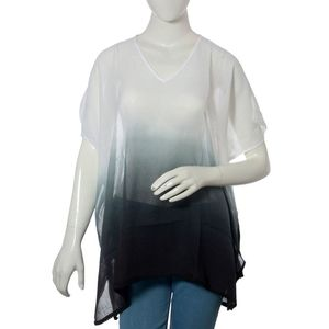 White and Midnight 100% Cotton Ombre Tunic