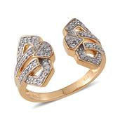 Diamond 14K YG Over Sterling Silver Ring (Size 8.0) TDiaWt 0.36 cts, TGW 0.360 cts.