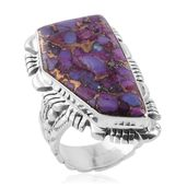 Santa Fe Style Mojave Purple Turquoise Sterling Silver Ring (Size 10.0) TGW 4.000 cts.