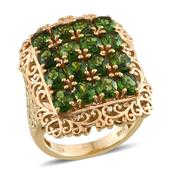 Russian Diopside 14K YG Over Sterling Silver Ring (Size 7.0) TGW 6.900 cts.