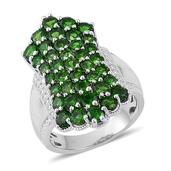 Russian Diopside Sterling Silver Ring (Size 9.0) TGW 3.840 cts.
